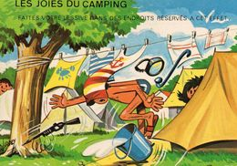 Humour Les Joies Du Camping Tentes Lessive Terrain De Camping - Humour