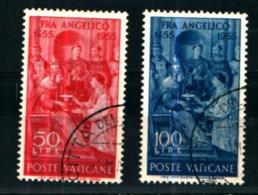 19362) VATICANO 5º Centenario Della Morte Del Beato Angelico  SERIE COMPLETA USATA - Vatican