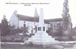 23 Creuse : Ars Le Monument Aux Morts De La Grande Guerre 1914-1918   Réf 7949 - Autres Communes