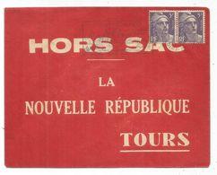 GANDON 5FR VIOLET PAIRE LETTRE HORS SAC MONTRICHARD 30.12.1953 AU TARIF - 1945-54 Marianne (Gandon)