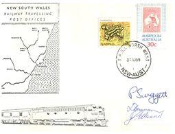 (C 8) Australia - 3 Covers 1985 -  NSW Railway Travelling Post Office - Briefe U. Dokumente