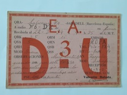 Carte QSL - QRA De Barcelona De 1934 ... Lot140 . - Sin Clasificación