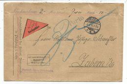 GERMANY LETTRE COVER BRIEF PFALZBURG 5.9.1916 NACHNAHME TO ZABERN ALSACE TAXE 35 - Briefe U. Dokumente