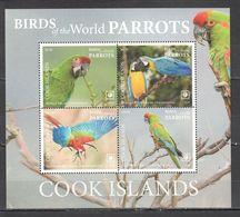 !!! EXCLUSIVE 2019 COOK ISLANDS FAUNA BIRDS PARROTS $42 US NOMINAL 1BL MNH - Pappagalli & Tropicali