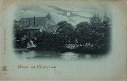 ! Alte Mondschein Ansichtskarte Gruss Aus Weißenfels , Schloss - Weissenfels