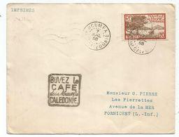 NOUVELLE CALEDONIE 20 C DAGUIN NOUMEA 7 AVRIL 1938 LETTRE - Marcofilie (Brieven)