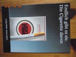 Carte Postale Publicitaire Allemand (Taschen 1996) 16,3 X 11,4 Cm - Lucky Strike. Sonst Nichts. Die Cigarette Davor 1995 - Objets Publicitaires