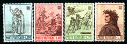 19368) VATICANO 7º Centenario Della Nascita Di Dante Alighieri - 18 Maggio 1965 SERIE COMPLETA MNH** - Vatican