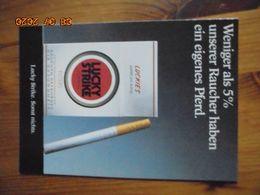 "Carte Postale Publicitaire Allemand (Taschen 1996) 16,3 X 11,4 Cm - Lucky Strike. Sonst Nichts. ""5%"" 1994 - Objets Publicitaires"