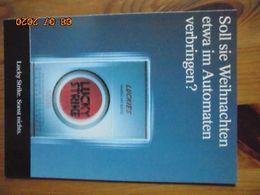"""Carte Postale Publicitaire Allemand (Taschen 1996) 16,3 X 11,4 Cm. Lucky Strike. Sonst Nichts. """"Weihnachten"""" 1994 - Objets Publicitaires"""