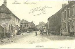 71 SAONE LOIRE IGORNAY BOULANGERIE DECHARGEMENT FARINE 1903 ANIMATION 1905 JOLI PLAN A VOIR - Francia