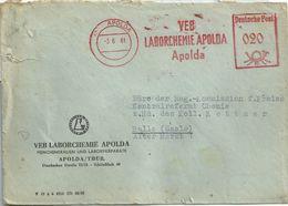 Ema Francotyp - Loboratoire De Chimie - Lettre D'Apolda - Machine Stamps (ATM)