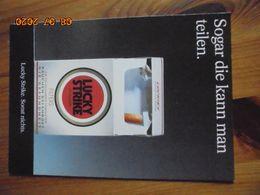 """Carte Postale Publicitaire Allemand (Taschen 1996) 16,3 X 11,4 Cm. Lucky Strike. Sonst Nichts. """"Teilen"""" 1993 - Objets Publicitaires"""