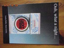 "Carte Postale Publicitaire Allemand (Taschen 1996) 16,3 X 11,4 Cm. Lucky Strike. Sonst Nichts. ""Ooh, What A Night"" 1991 - Objets Publicitaires"