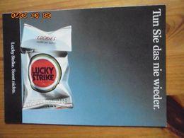 """Carte Postale Publicitaire Allemand (Taschen 1996) 16,3 X 11,4 Cm. Lucky Strike. Sonst Nichts. """"Nie Wieder"""" 1993 - Objets Publicitaires"""