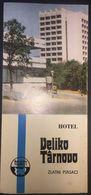 Bulgaria Hotel Veliko Tirnova 1970's Illustrated Turistic Brochure - Dépliants Touristiques