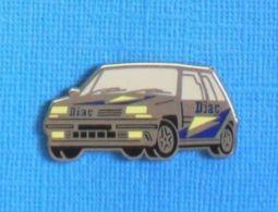 1 PIN'S //  ** RENAULT 5 GT TURBO / TITANE - DIAC ** . (Arthus Bertrand Paris) - Renault