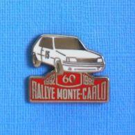1 PIN'S //  ** PEUGEOT 205 GTI / 60ème RALLYE MONTE-CARLO '92 ** . (Équipage H.PRETIN  J.J. ROUSSEAU) - Rally