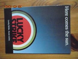 "Carte Postale Publicitaire Allemand (Taschen 1996) 16,3 X 11,4 Cm. Lucky Strike. Sonst Nichts. ""Sun"" 1990 - Objets Publicitaires"