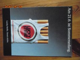 "Carte Postale Publicitaire Allemand (Taschen 1996) 16,3 X 11,4 Cm. Lucky Strike. Sonst Nichts. ""Sommeranfang"" 1991 - Objets Publicitaires"