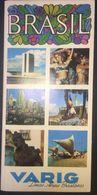 Brasil Varig Airlines 1970's Illustrated Turistic Brochure - Dépliants Touristiques