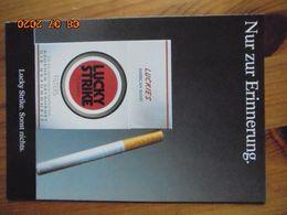 """Carte Postale Publicitaire Allemand (Taschen 1996) 16,3 X 11,4 Cm. Lucky Strike. Sonst Nichts. """"Erinnerung"""" 1989 - Objets Publicitaires"""
