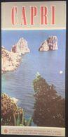 Italy Capri 1960's Illustrated Turistic Brochure - Dépliants Touristiques