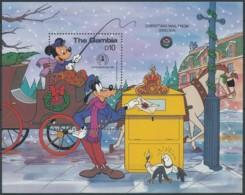 [91395]SUP//**/Mnh-THE GAMBIA - Walt Disney - Noël, Courrier De La Suède, Poste, Facteur, B.D - Disney