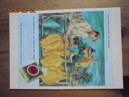 """Carte Postale Publicitaire USA (Taschen 1996) Reproduction 16,3 X 11,4 Cm. """"Lucky Strike Means Fine Tobacco"""" 1935 - Objets Publicitaires"""
