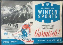 Germany Garmisch Winter Sports 1957 Brochure - Dépliants Touristiques