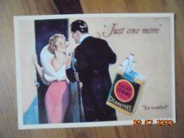 "Carte Postale Publicitaire USA (Taschen 1996) Reproduction 16,3 X 11,4 Cm. Lucky Strike ""Just One More"" 1932 - Objets Publicitaires"
