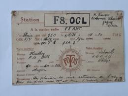 "Carte QSL - QRA De Gagny Sur Oise Avec Publicité "" Radiofotos "" Paris En 1932 ... Lot140 . - Sin Clasificación"