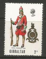 Gibraltar- 1969  Military Uniforms 2s MNH ** - Gibraltar