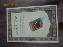 Carte Postale Publicitaire USA (Taschen 1996) Reproduction 16,3 X 11,4 Cm. Lucky Strike 1927 - Objets Publicitaires