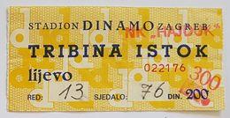 Football NK DINAMO ZAGREB  Vs HAJDUK SPLIT   Ticket - Eintrittskarten