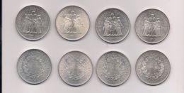 FRANCIA - 4 MONEDAS DE 50 FRANCOS DE PLATA AÑOS 1974-1975-1976 Y 1977 SIN CIRCULAR - KM # 941.1 - France