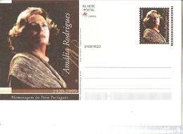 Portugal ** & Postal Stationary, Homage To The Portuguese People, Amália Rodrigues 1920-1999 (8688) - Altri