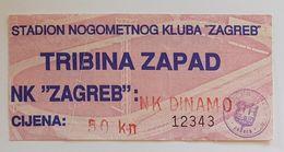 Football NK ZAGREB Vs NK DINAMO ZAGREB     Ticket - Eintrittskarten