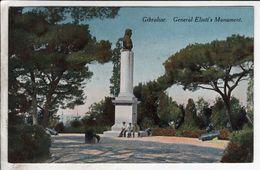 Cpa Gibraltar General Eliott S Monument - Gibraltar