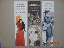 Lot De 3 Marque Pages : Librairie Boulavogue - 35190 Becherel, Ille Et Vilaine - Bookmarks
