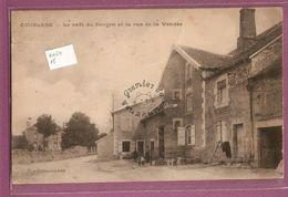 Cp Coublanc Café Du Donjon Et La Rue De La Vendée - édition Vve Gromaire  état - Frankrijk