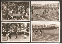 LOTS De 4 PHOTOS JUILLET 1948 SPORT FÉMININ FEMME - SAUT En HAUTEUR LANCER Du POIDS COURSE - Sport