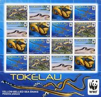 Tokelau 2011, WWF-Yellow-Bellied Sea Snake, MNH Sheet - Tokelau