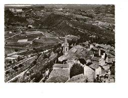 83 La Cadiere D' Azur En Avion Au Dessus De L' Eglise Et Le Vieux Quartier Vue Sur Le Castellet CPSM GF Cachet 1964 - France