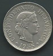 Suisse 10 RAPPEN 1955 ZWITSERLAND   Pia22902 - Suisse