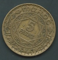 1 PIECE MAROC EMPIRE CHERIFIEN MAROCCO AN 1365 - 5 FRANCS  Pia22904 - Marokko