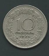 Autriche   AUSTRIA 1925 10 Groschen  Pia22911 - Autriche