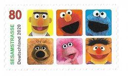 """2020 Allem. Fed. Deutschland Germany Mi.3534 **MNH Booklet Stamp . Fernsehserie """"Sesamstraße - BRD"""