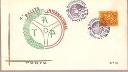 Portugal & FDC IV Internacional  Rally T.A.P, Porto 1970 (85675) - FDC