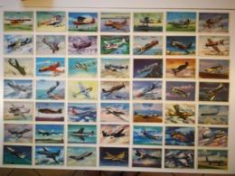 FOR SKY TAMERS FANS: VINTAGE TRADING CARDS LOT OF 81/100 SIDAM AEREI D'OGGI AIRPLANES SET - 1960 - Süsswaren